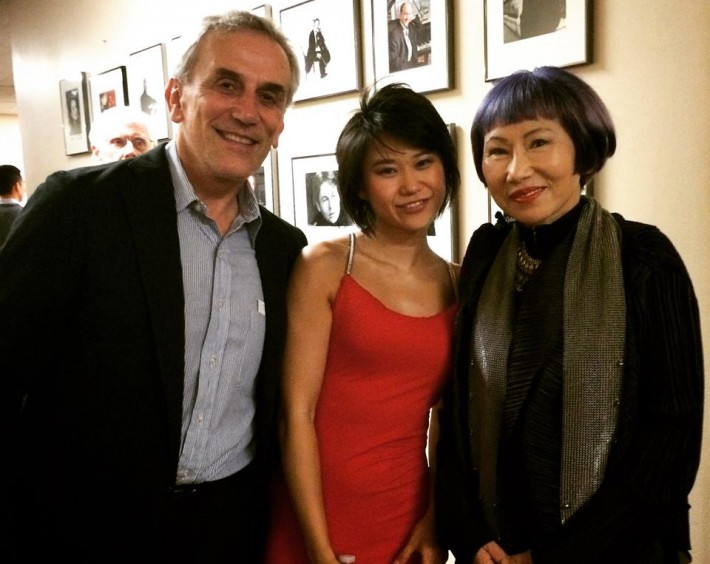Before the tour with writer Amy Tan