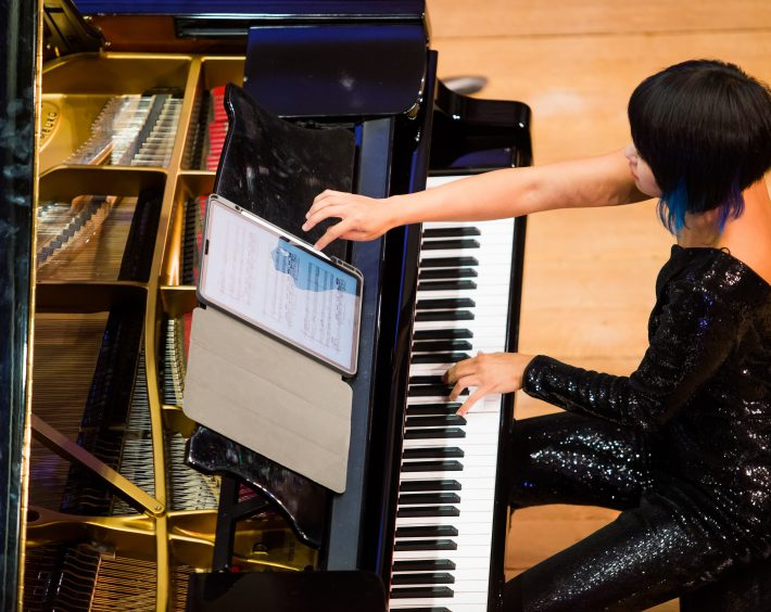 Yuja Wang and the Mahler Chamber Orchestra in Sibiu. Photo: © Geoffroy Schied